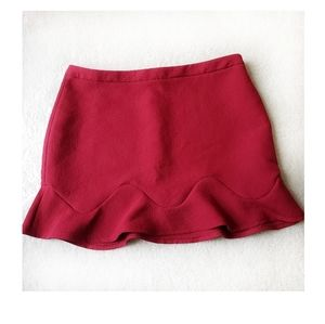 🌻Zara dark red mini skirt